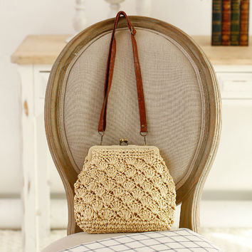 Vintage One Shoulder Bags Beach Crochet [6580680839]