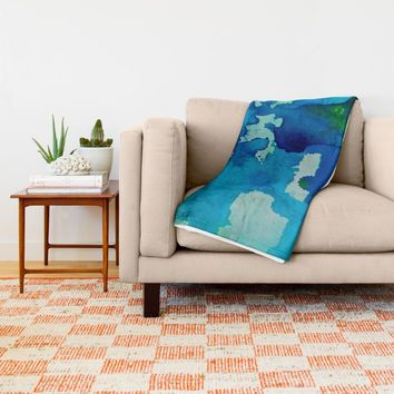Topography Throw Blanket by DuckyB (Brandi)