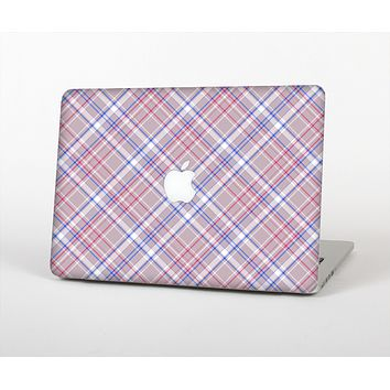 The Pink and Blue Layered Plaid Pattern V4 Skin for the Apple MacBook Air 13""