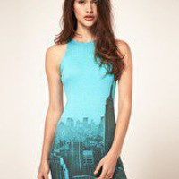 motel zoe city print dress | ASOS