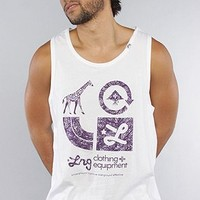 LRG Core Collection The Core Collection Graphic Tank Top in White,Tank Tops for Men