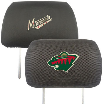 Minnesota Wild NHL Polyester Head Rest Cover (2 Pack)