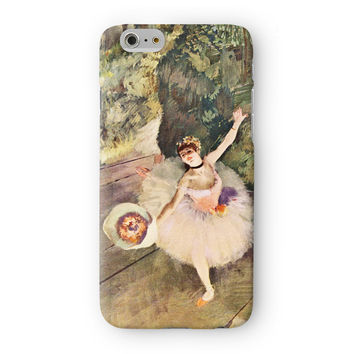 Ballerina Girl 5 by Edgar Degas Full Wrap 3D Printed Case  for Apple iPhone 6 by Painting Masterpieces