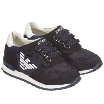 Armani Baby Boys Navy Sneakers