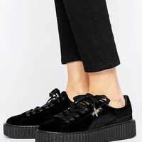 Puma X Fenty Velvet Creepers In Black at asos.com