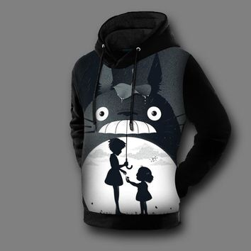 [XHTWCY]  New Fashion Men/Womens 3D Totoro Sweatshirt Cartoon Printed  Sweat Shirt Pullover Totoro Hoodie Unisex