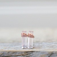 Rose Quartz Bar Studs