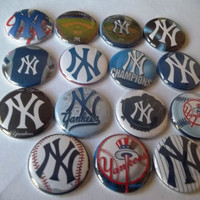 New York Yankees flat back Buttons by Funcreations5 on Etsy