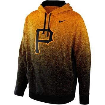 Nike Pittsburgh Pirates Mezzo Fade Performance Hoodie - Gold/Black