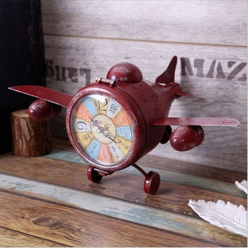 Creative Living Room Strong Character Iron Vintage Decoration Clock [6282698886]