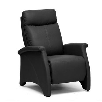 Baxton Studio Sequim Black Modern Recliner Club Chair Set of 1