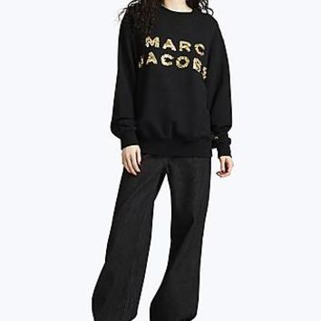 Embroidered Gold Beaded Logo Sweatshirt | Marc Jacobs