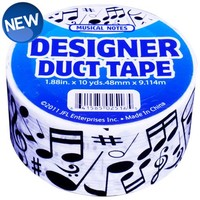 Just For Laughs JFL2516 Music Notes / Symbols Duct Tape 1.88 in X 10 yds (48 mm x 9.114 m)