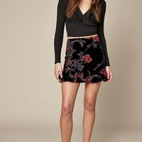 LA Hearts Velvet Ruffle Skirt at PacSun.com