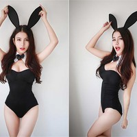 Bunny Leotard Bodysuit Cosplay Temptation Catwomen