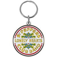 Beatles Sgt. Pepper Metal Key Chain Silver