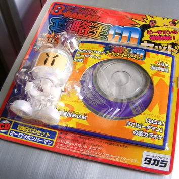 Takara 1996 Hudson Soft B-Daman Bomberman JBA White WIth CD BGM Model Kit Action Figure