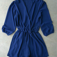 Coronado Romper in Navy