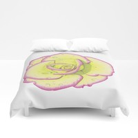 Rose - After the Rain Duvet Cover by drawingsbylam