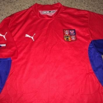 Sale!! Vintage Puma CZECH REPUBLIC Home 2002/2004 Soccer Jersey Retro Football Shirt