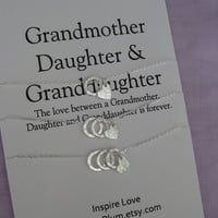 GRANDMOTHER Mother Granddaughter. Grandmother Granddaughter. Grandma Gift. Mother Daughter Necklace. Grandmother Necklace. Wedding  Party