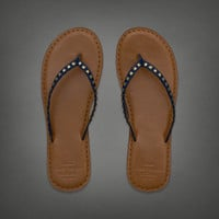 Light Leather Flip Flop