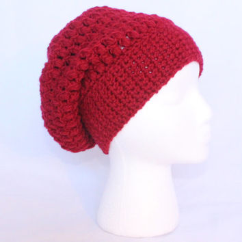 Slouchy Beanie in Red