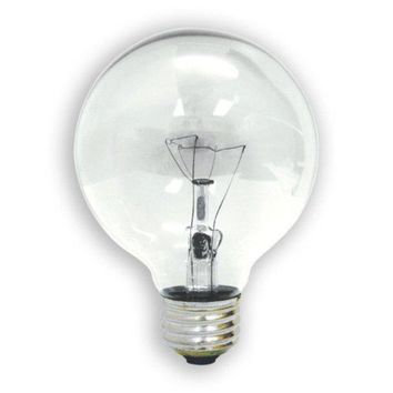 GE Lighting 44739 Incandescent G25 Globe Bulb, Crystal Clear, 40W, 3-Pack