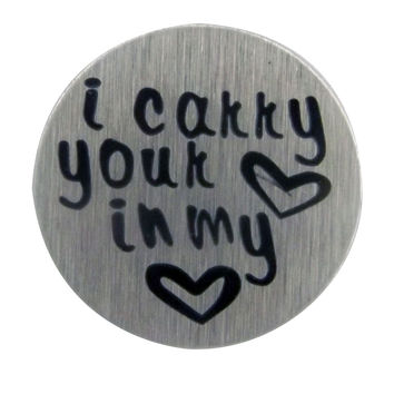 Carry Your Heart in My Heart Style 1 22mm Silver Disc Plate