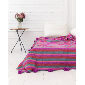 Berry Fields. Pom Pom Blanket