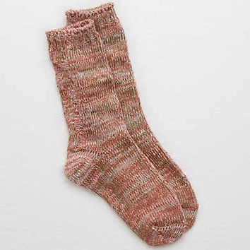 Aerie Cable Knit Boot Socks, Pink Sorbet