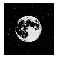 Full Moon Astronomy Space Art Poster