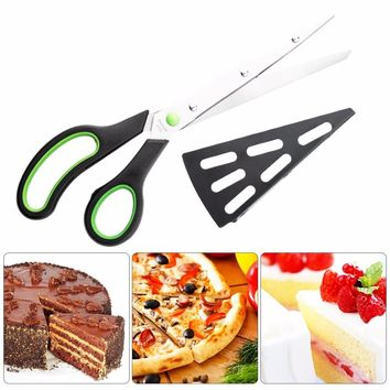Multifunctional Stainless Steel Detachable Pizza Scissors, Home Kitchen Baking Pizza Shovel, Scissors, Kitchen Bakeware,