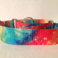 "Tye Dye Martingale or Quick Release Collar Nylon 3/4"" 1"" Martingale 1.5"" Martingale 2"" Martingale"