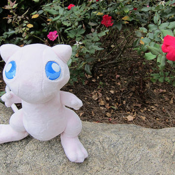 Mew Pokemon Plushie  Mini by LobitaWorks on Etsy