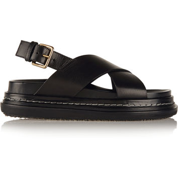 Marni - Leather slingback sandals