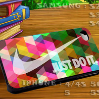 Colorfull Nike Geometric For iphone 4 iphone 5 samsung galaxy s4 / s3 / s2 Case Or Cover Phone.