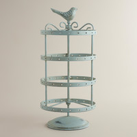 Green Spinning Bird Earring Holder - World Market