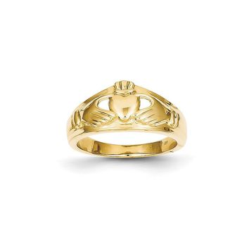 14k Yellow or White Gold Ladies Claddagh Ring