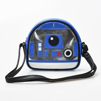 Blue & Silver Leatherette Star Wars R2-D2 Crossbody Bag