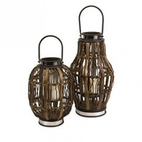 Saeran Hurricane Lanterns Set of 2Wedding and Event Candlelighting