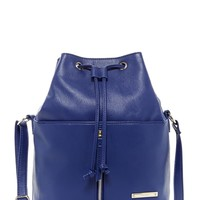 Angular Zippers Bucket Bag