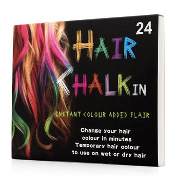 24 Colors Brief paragraph Hair Chalk Fashion Color Hair Chalk Dye Pastels Temporary Pastel Hair Extension Dye Chalk Hot Crayon