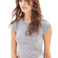 FOREVER 21 Basic Cropped Tee
