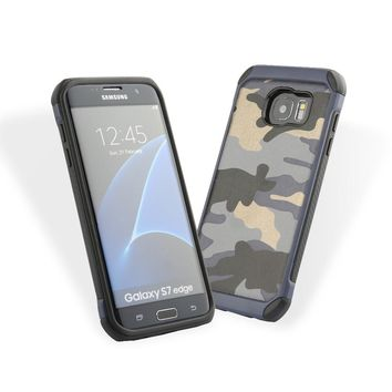 For Galaxy Note 5 Navy 2 in 1 Army Camo Camouflage Hybrid Armor Capa Cases for Samsung Galaxy S6 / S6 edge / Plus S7 / edge Case