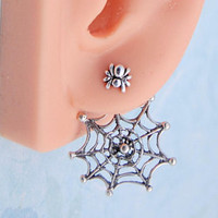 Punk Sun Ear Jackets / Sterling Silver / Pair