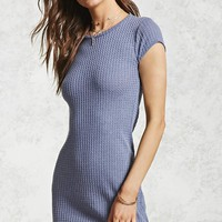Ribbed Knit Mini Dress