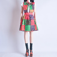 RESERVED patchwork wrap mini dress / apron / by persephonevintage