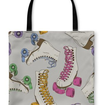 GP TL Tote Bag, Pattern With Roller Skates
