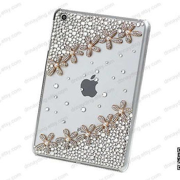 ipad case ipad cover florers ipad 4 case Swarovski crystal ipad case Custom New Ipad 3 case Floral IPad 2 Case Bling iPad Cover